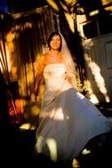 Beautiful: Bride outside.